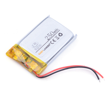 502030 3.7V 250mAh Rechargeable Li-Polymer Li-ion Battery For mp3 mp4 mp5 toys DVR smart watch 052030 501929 Point Read pen(China)