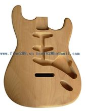 new made in China alder wood st electric guitar body unpainted+EMS free shipping+foam box F-5001