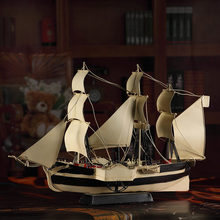Beautiful White Sailing Ship Living Room Office Decoration Craft Auspicious Gifts