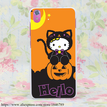 408M Hello Kitty Halloween Jack Lantern Hard White Cover Case for Lenovo S850 S90 S60 & Nokia 535 630 640 & Sony Z2 3 4