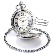 Pocket Watch, Mechanical, Analog, Silver Case