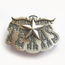 New Vintage Silver Plated Western Texas Star Cowboy Belt Buckle Gurtelschnalle Boucle de ceinture(China)