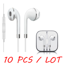 10 pcs / lot New Original Headphones For Samsung apple iPhone 4S 5 5S 6S iPod Earphone Earbuds audifonos With Mic fone de ouvido