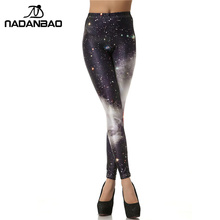 NADANBAO Brand New 3D Digital Black White Galaxy Legins Fashion Slim Sexy Leggins Printed Women  Leggings Woman Pants
