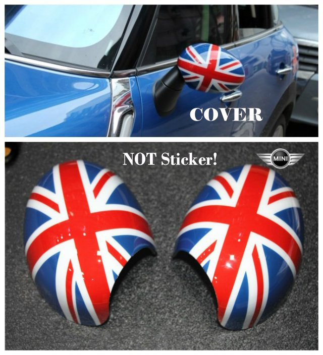 2pcs/lot Union Jack Plastic Auto Side Mirror With Powerfold and manualfold Option Fit For MINI Cooper R56-R61 Countryman Level A<br>