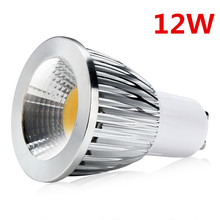 10pcs COB GU10 LED Dimmable Spotlight 12W GU10 Led Lamp GU 10 Spotlight Warm White Bulb Energy Saving