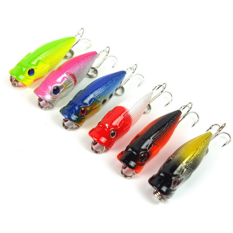 6pcs/set Small Poppers fishing lures hard bait 3.5CM 2.7G topwater fish wobbler isca artificial lure tackle pesca<br><br>Aliexpress