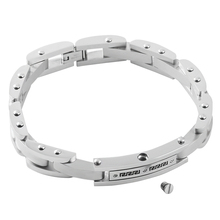 IJB5031 Silver tone 316L stainless steel material cremation bracelets bangles for human/ pet ashes jewelry keepsake for men(China)