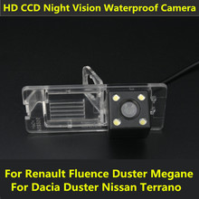 Car CCD Night Vision Backup Parking Reversing Rear View Camera For Renault Fluence Megane 3 Dacia Duster Nissan Terrano