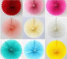 Hot 1Pcs 10cm Tissue Paper Fans Flowers Pompom Balls Round Lanterns DIY Craft Hanging Small Flower Wedding Party Decoration