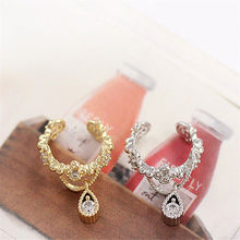 New Fashion 1pc Vintage Jewelry Rhinestone Water Drop Ear Cuff Clip Earrings For Women Punk Ear Cuff Wrap Earring No Piercing