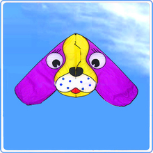 free shipping children kites large ears dog delta kites flying higher nylon ripstop with handle line outdoor toys adult(China)
