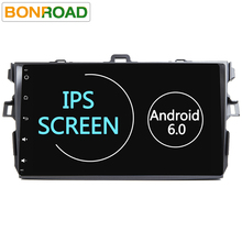 "Android 6.0  IPS Screen  9""2Din Quad Core 1024*600 Car PC Tablet For Corolla 2007- 2011 GPS BT Radio Stereo Audio Player No DVD"
