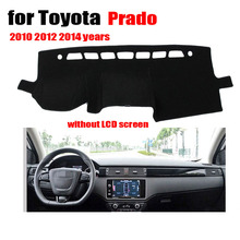 custom dashboard mats Car Dashboard cover For Toyota Prado 2010-2012 2014 without LCD screen Auto Console Avoid light pad