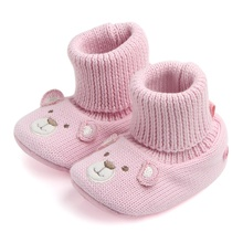 Winter Baby Gilrs Cute Cartoon Shoes Boots Girl Boy Kids First Walkers Knitted Super Warm Soft Soled Booty