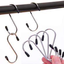 12pcs.set S Design Hangers Multifunction Wardrobe Clothes Scarf Hanging Rack Stainless Steel Household Hooks