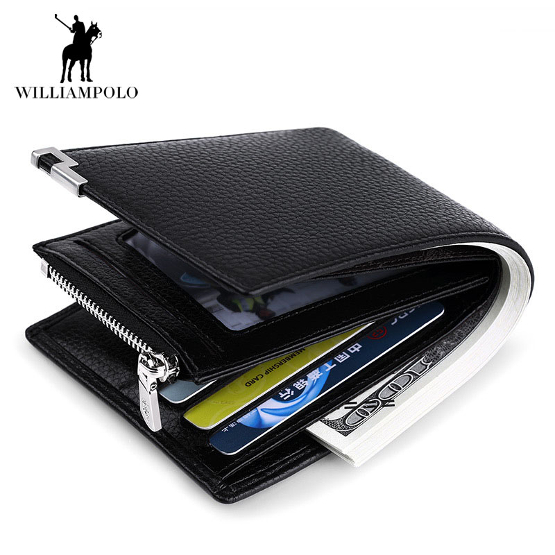 Luxury Brand 2017 Genuine Leather Mens Purse Coin Wallet Coin Holder Casual Coin Pouch Card Holder Men Business Male Wallet Coin<br>