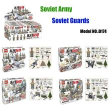 WW2 Soviet Russian National Army Model The Battle Moscow Custom Guard Soviet Military Figures Block Brick Toy Compatible D164