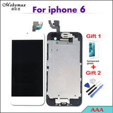 "Mobymax Pantalla For iPhone 6 A1586 A1549 4.7"" Full Assembly Touch Screen Digitizer Display Replacement+Home Button+Front Camera"
