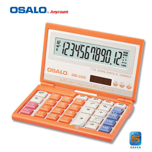 12 Digits Foldable Electronic Calculator OS-552C Calculadora Cientifica 112 Step Check Correct Big Display Color Calculator<br><br>Aliexpress