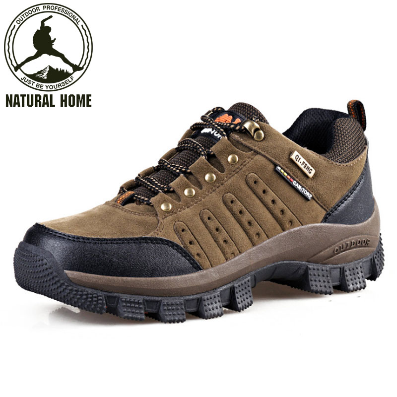 NaturalHome Brand Outdoor Waterproof Hiking Shoes Men Women Breathable Climbing Boots Mens Trekking Shoes Camping Boot<br><br>Aliexpress