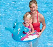 Safety High Quality Island Holiday Summer Water Sports Fun Gift Swimming Pool Ring Float 3-6 ages Baby Elephant Air Floating(China)