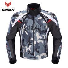 DUHAN Camouflage Men's Motorcycle Jacket Oxford Cloth Motocross Off-Road Racing Jacket with 5 Protectors Moto Guards Clothing