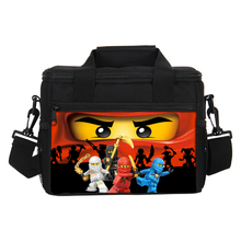 New Kids Ninjago Cooler Bag Food Children Thermal Insulated Bag Picnic Bags Girls Boys Student Travel Lunch Cooler Bag