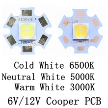 CREE XHP70 6500K Cool White 5000K Neutral White 3000K Warm White LED Light Emitter Didoes 6V 12V with 16mm 20mm Copper PCB(China)
