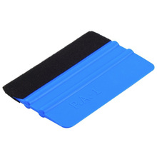 glass clean felt 3M squeegee car sticker wrapping scraper with cloth pp car sticker scraper car wrap tools felt scarper squeegee
