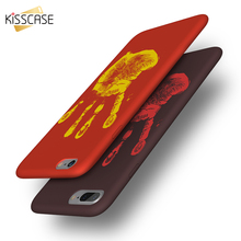 KISSCASE Ultra Thin Cool Case For iPhone X 8 Case Heat-sensitive Changing Color Soft Cover For iPhone 8 iPhone 6 6S 7 5S Cases(China)