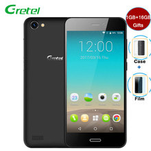"Gretel A7 Smartphone Android 6.0 1GB RAM+16GB ROM Quad Core 4.7""HD 8MP 2000mAh Battery Telefone Celular 3G Unlocked Cell Phones"