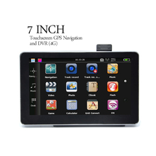 7 Inch Touchscreen GPS Navigator and DVR (4GB, FM Transmitter) car black box front camera gps navigation(China)