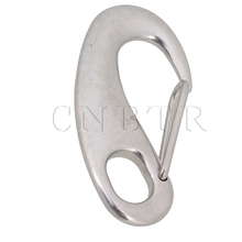 CNBTR Large Stainless Steel Safely Spring Snap Hook Quick Link Carabiner Egg Shape(China)