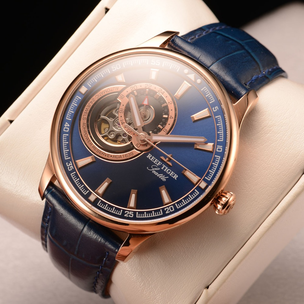 Men Watch Dress Mechanical-Watch Blue Tourbillon Tiger/rt Luxury Automatic Relogio Masculino title=