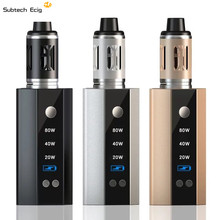 Buy SUB TWO electronic cigarette diamond 80w vaporizer kit LED display screen built-in 2200mah battery 3ml big tank vape kit for $20.99 in AliExpress store