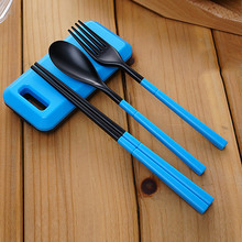 1Set Portable Folding Travel Dinnerware Set Tableware Cutlery Fork For Camping Picnic Kids Adult for Bento Lunch DA(China)