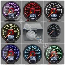 Gre**y Gauge Water Temp Gauge 7 Light Colors LCD Display With Voltage Meter Car Gauge 62mm 2.5 Inch With Sensor Greddi Meter