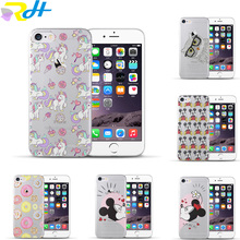 Most popular For coque iPhone 5 5S SE 6 6S 7 Plus Mickey Minnie TPU Soft Silicone Phone Case Skin Cover for capa iPhone 7 case(China)