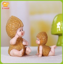 LXYYnew baby walnut cake candle wedding gift ideas home decoration resin mold silicone mold mold clay doll cute little ornaments