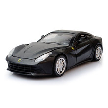 F12 Pull Back Simulation Sport Car Model 1:32 Autos a Escala Acousto-optic Diecast Metal Vehicles Boys Favourite Aolly Car Toys