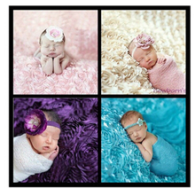 Giol Me Num 3D Newborn photographic props clothing props rose blankets baby photographed flower blankets 130X95cm(China)