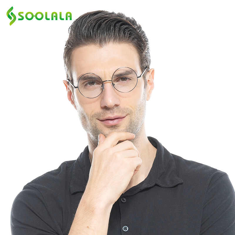 ae8f637165 Detail Feedback Questions about SOOLALA Round Women Men Reading Glasses  Lightweight Retro Eyeglasses Frame Spring Hinged Presbyopia Reading Glasses  +0.5 to ...