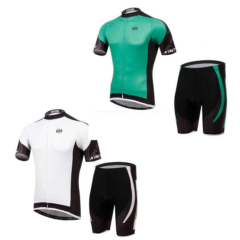 2017 Summer Mens Ropa Ciclismo XINTOWN cycling jersey cycling clothing set Padded Green White Bike jersey shirt bib Shorts Set  <br><br>Aliexpress