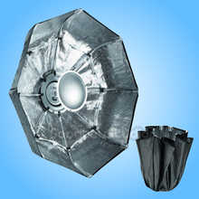"70cm / 27"" SILVER Portable Collapsible Beauty Dish Softbox with Alien Bees Alienbees Mount for Flash Strobe"