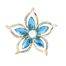 XZ8328 New Fashion Hot Sale Cheap Purple/Blue Flower Brooches For Women Wedding Bouquet Drop Shipping(China)