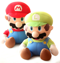 "1pcs 9.8"" 25cm High Quality Super Mario Soft Plush Mario Foam Particles SUPER MARIO Baby Toy Plush Toys / Free shipping"