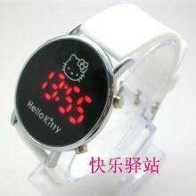 White Silicone Hello Kitty Watch Children Watch led digital fashion watch Free & Drop Shipping 1PCS