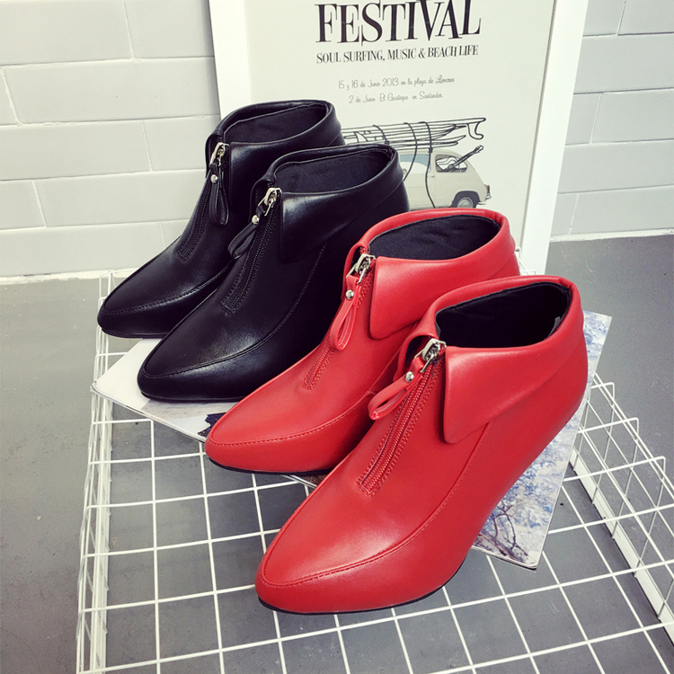 2017 New Spring And Autumn Fine with high Lacing Female Platform Shoes Casual Office Lady Shoes Fine with high heels<br><br>Aliexpress