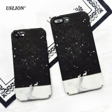 USLION Fashion Starry Sky Phone Case For iPhone 7 6 6s Plus Cute Cartoon Elk Hard PC Cases Back Cover Capa For iPhone7 Plus